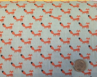 Fox double gauze Fabric Japanese Import