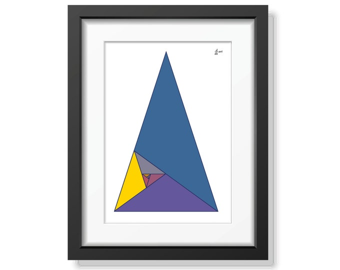 Fibonacci triangles 04 [mathematical abstract art print, unframed] A4/A3 sizes