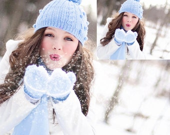 DIGITAL Blowing Snow Overlay for photographers, photography
