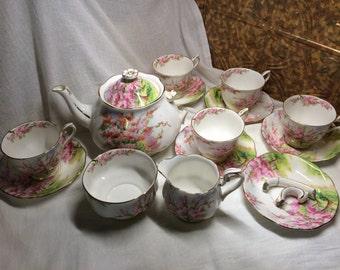 Bone china, Royal Albert, Blossom Time, Hampton, Landscape Scene,  set, england, 799933