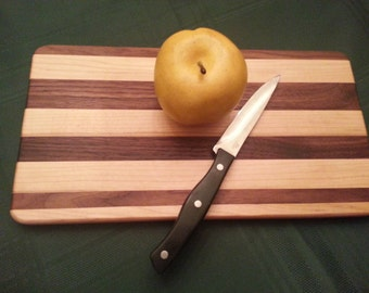 Cutting Board, Serving Board, or Trivet - Maple and Walnut.  13 1/2 inches By 7 inches