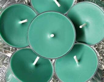 Christmas Day Scented Tea Light Candles - All Natural Soy Wax (Set of 6) - 5 Hour Burn