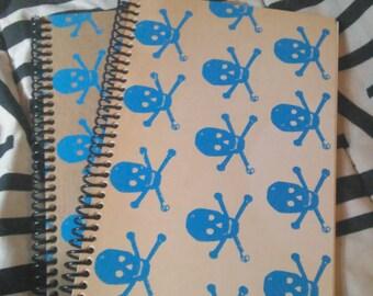 Journal / Sketchbook skulls screenprint