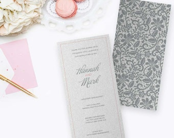 Vintage Lace Wedding Menu