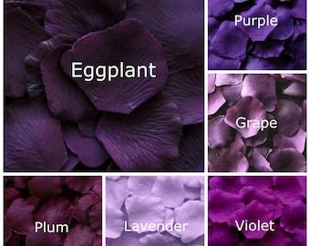 Silk Rose Petals, 1000 petals, Purples