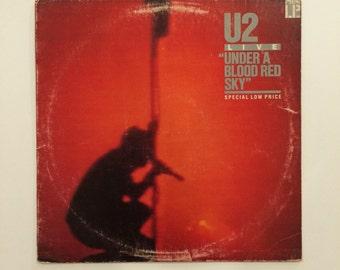 U2 - Under A Blood Red Sky - Live  vinyl record album LP