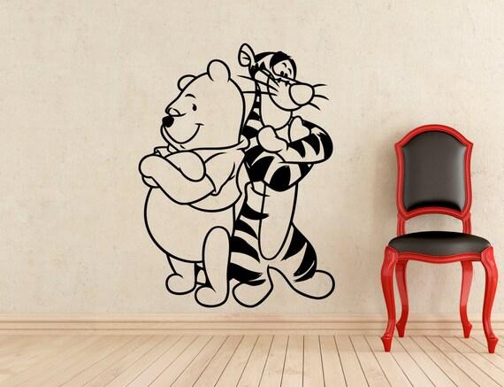 winnie the pooh wall sticker pooh bear tigger cartoon vinyl compare pooh bear wall sticker apps directories