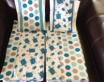 Baby Shower Gift Set, Receiving Blanket, Burp Cloths, Baby Bibs