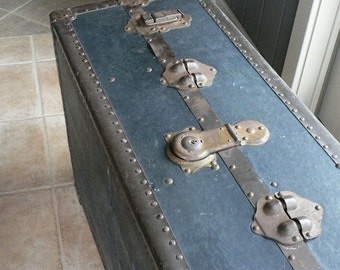 Old Low Profile Steamer Trunk