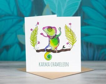 Chameleon Greeting Card - 'Karma Chameleon'