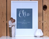 Personalized Baby Name and Meaning Nursery Keepsake Print, Custom Baby Name Gift