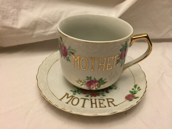 Very Large Mother Tea Coffee Cup And Saucer By