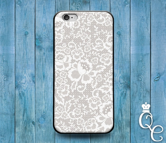 iPhone 4 4s 5 5s 5c SE 6 6s 7 plus iPod Touch 4th 5th 6th Generation Cute White Lacey Spiral Floral Mandala Henna Cool Phone Cover Lace Case