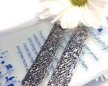 Hammered Earrings - Silver Earrings - Silver Jewelry - Silver Toned - Long Earrings - Boho Jewelry  - Bohemian - Hammered  - Long Earrings