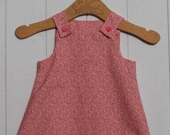 Beautiful Handmade Girls Pinafore Dress 12 - 18 Months