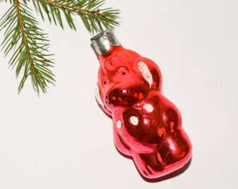 Puppy dog pink Christmas puppy love Christmas dog puppy ornament vintage Christmas holiday ornament Christmas decoration animal ornament