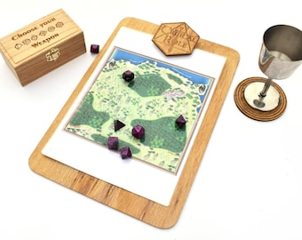 D20 Clipboard, Pathfinder, Dungeons and Dragons, Dice Clipbaord, Geek Gift, Dnd Present, Man Gift, RPG gift, Clipboard, Geek stationary