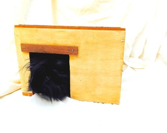 Reclaimed Wood Pet House Handmade Guinea Pig Hideout Hardwood Cavy Hidey Hut The Shack SKU H22S