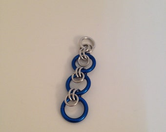 Blue Chainmaille Pendant