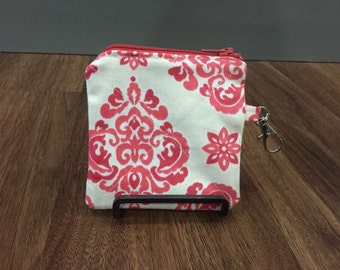 Coin Purse Change Purse Small Zipper Pouch with Latch