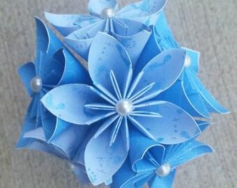 Baby Shower Flowers, Baby Shower Decor, Baby Shower Centerpieces,Baby Flowers, Blue Flowers, Paper Flowers, Mini Paper Flowers, It's a boy