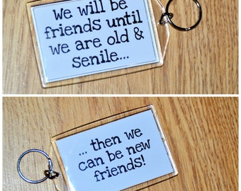 Friend Keyring, Friend Magnet, Funny Saying Keyring, Friendship Small Gift Idea, Gift For Friend, Friendship Gift, Friend Keychain, Keychain