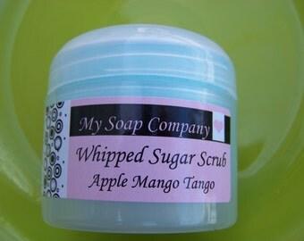 SUGAR SCRUB, Apple Mango Tango Whipped Sugar Scrub, Body Scrub, Travel Size Sugar Scrub, body scrub, Spa, Gain Type