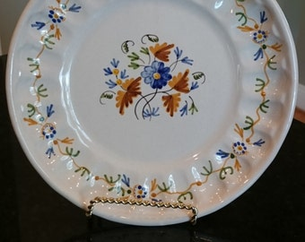 """Beautiful Spanish Faience Plate """"El Cacharrero"""" by Goya/ Tin Glazed Spanish Plate/ Copied from a famous Painting"""
