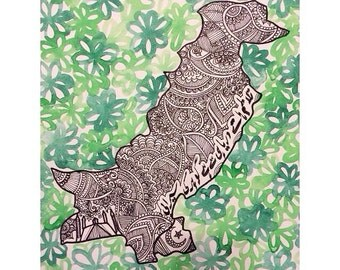 Pakistan drawing (mehndi/henna inspired)