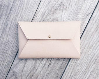 Leather envelope clutch, Leather envelope wallet, Leather envelope purse, Leather envelope pouch, Leather mail clutch, Leather envelope case
