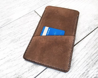 Leather iPhone Case, Leather iPhone Wallet, Leather iPhone Sleeve, Leather iPhone 6 plus case, Leather iPhone 6 case, slim iPhone case