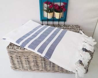 Navy Herringbone Turkish Towel,Navy Herringbone Beach Blanket,Beach Cover up,Navy Beach Towel,Goldenrod 7182