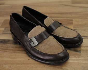 JOOP Vintage Loafer Shoes Ponyhair brown Loafers