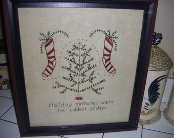 Cross Stitched Christmas Picture