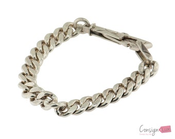 Silver Chunky Chain Bracelet - 7.6 inches long
