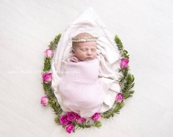 Antique gold crown; newborn crown; photo prop; baby headband