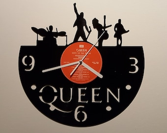 Queen clock, Wall clock, vinyl record clock, vinyl clock