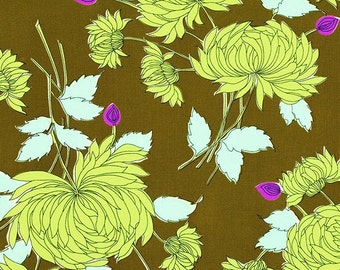 Amy Butler - Belle - Chrysanthemum Olive - Free Spirit - Price Per Yard