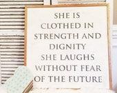 Proverbs 31:25 2x2 Handpa...