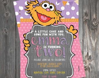 Zoe/Sesame Street Girl Invitation