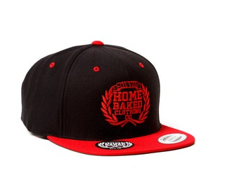Home Baked Clothing Snapback Hat (Red/Black)