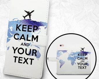 Customized Phone flip Wallet case - Keep Calm - iPhone 6s Case iPhone 6 Case, Nexus 6, Samsung Galaxy S6 S5 S4, Note 5, 4, 3, SONY, LG Case
