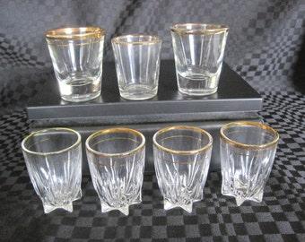 Vintage 7 glasses Shooter