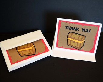 Pirate Theme Thank You Cards