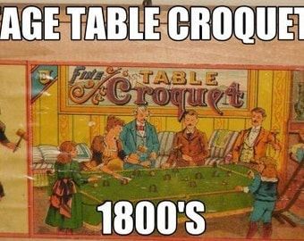 Vintage Table Top Mini Croquet Set
