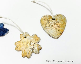 Air clay Christmas ornaments - Air clay decoration