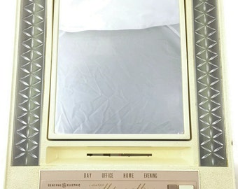 Vintage General Electric Lighted Makeup Mirror (GE, 1960's)