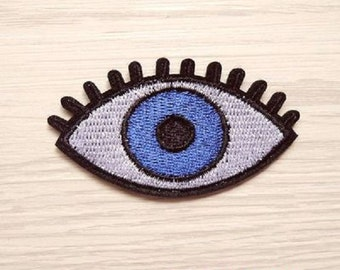 Blue Eye Embroidered Iron-on Patches Sew-On Applique Sewing Supplies Fashion Acessories