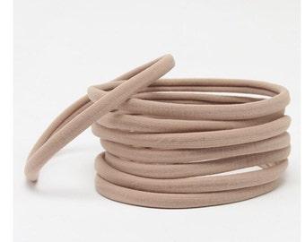 Nylon Stretch Headbands (sold in packs of 10 Headbands)