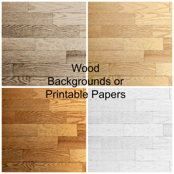 Distressed Wood Digital Photo Backgrounds, Wooden Look Printable Papers, Download File